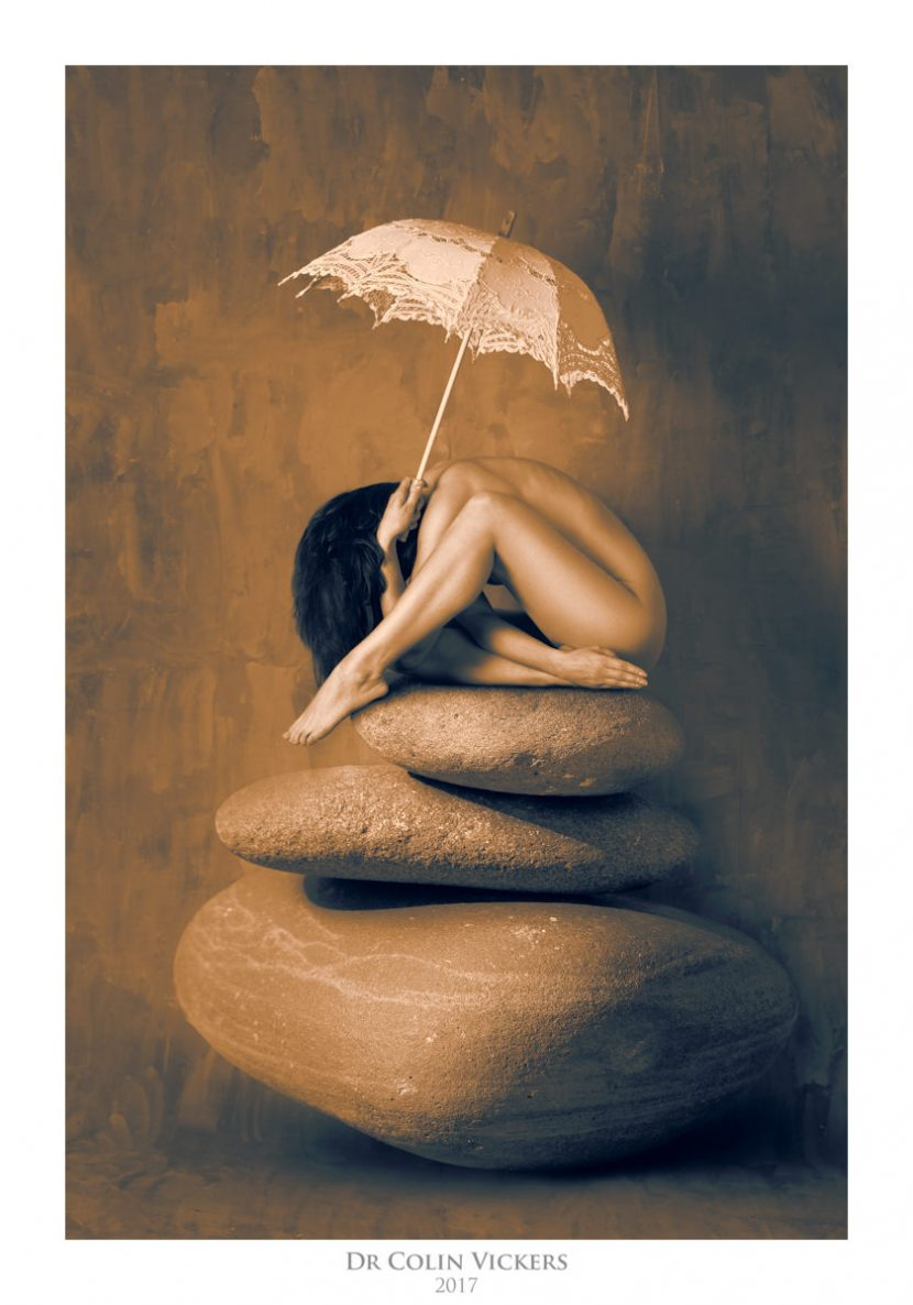 Warmth of Pebbles by Dr Colin Vickers - Fine-Art Nude Surreal Composition