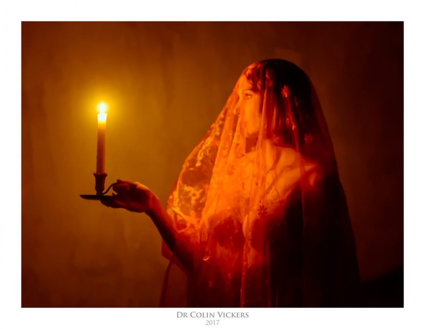 Candlelit Dreams by Dr Colin Vickers - Fine-Art Nude Photo-Painting