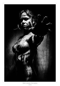 Fine Art Nude Photographer Vienna - Nude Woman Covered In Blood Stretches Out At You