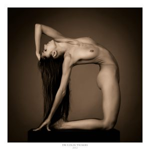 Fine Art Photographer Vienna - Nude Dancer Stretches Her Back