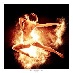 Fine Art Nude Photographer Vienna - Jumping Dancer Playing With Fire