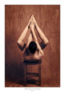 Fine Art Nude Photographer Vienna - Abstract Nude of Woman On Stool in Painterly Style