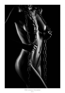 Fine Art Nude Photographer Vienna - Curvy Nude Model Stands With Chains