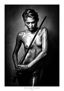 Fine Art Nude Photographer Vienna - Nude Women Covered In Blood With Samurai Sword
