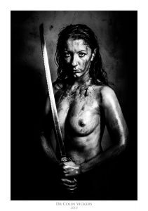 Fine Art Nude Photographer Vienna - Nude Woman Covered In Blood With Samurai Sword