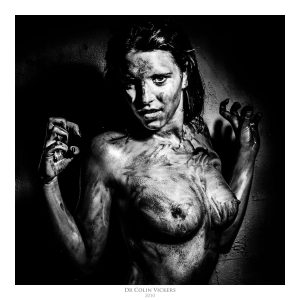 Fine Art Nude Photographer Vienna - Nude Woman Covered In Blood Pulls Sexy Pose