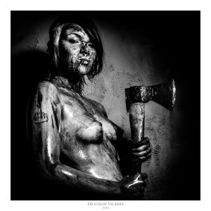 Fine Art Nude Photographer Vienna - Nude Woman Covered In Blood Holds Axe