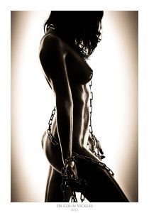 Fine Art Nude Photographer Vienna - Nude Woman Standing With Chains