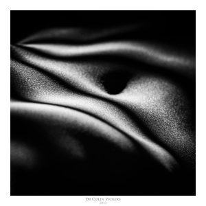 Fine Art Nude Photographer Vienna - Abstract Stripes On Nude Woman's Stomach