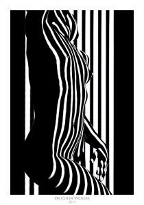 Fine Art Nude Photographer Vienna - Abstract Stripes On Model's Body