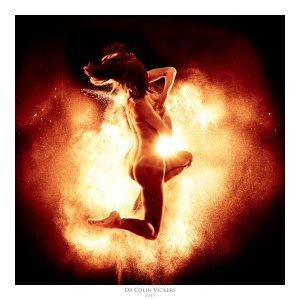 Fine Art Nude Photographer Vienna - Nude Model Jumping in Flames