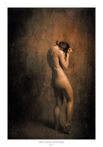Fine Art Nude Photographer Vienna - Abstract Nude of Standing Naked Woman in Painterly Style