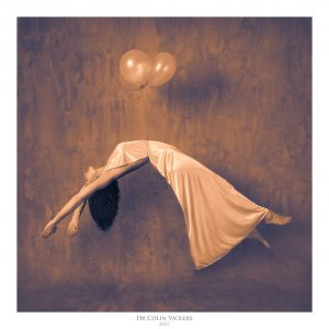 Fine Art Nude Photographer Vienna - Abstract Nude of Woman Carried by Balloons in Painterly Style