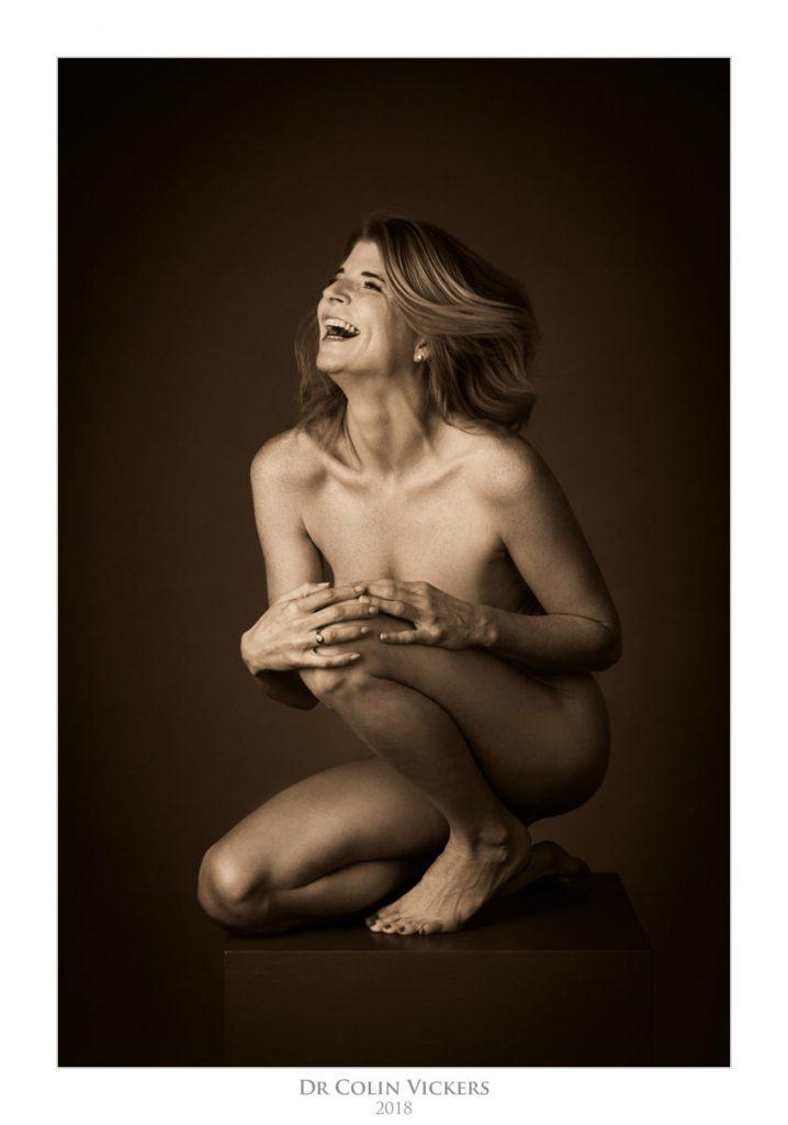 Jennifer - Nude Art For Her Husband's Birthday - Hair Flying