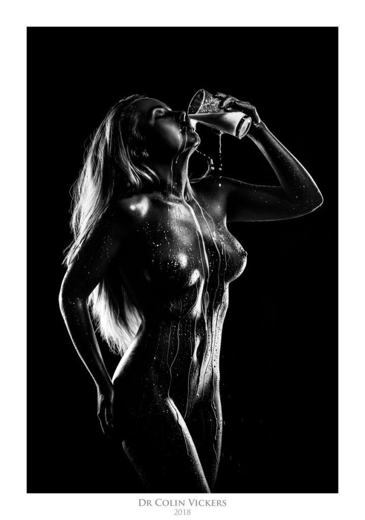 Amber Karis Bassick nude drinking milk
